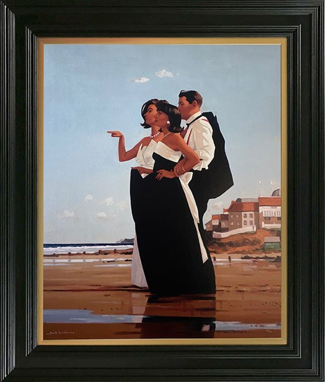 The Missing Man II by Jack Vettriano - Framed Embelished Canvas on Board