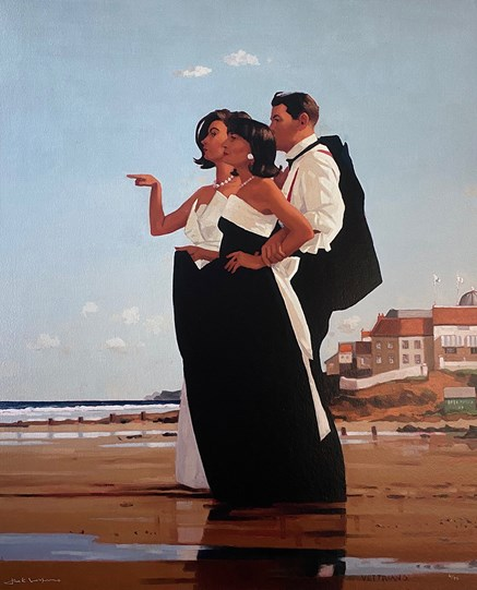 The Missing Man II by Jack Vettriano - Embelished Canvas on Board